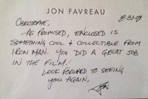 Message de Jon Favreau